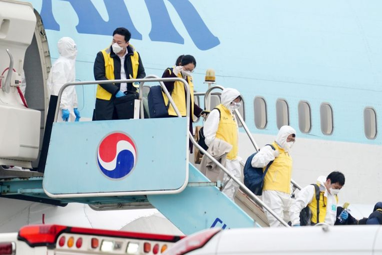 one of korean airs cabin crew tests positive for coronavirus - PM denies opposition MP's accusation he bribed a group of MPs in Parliament