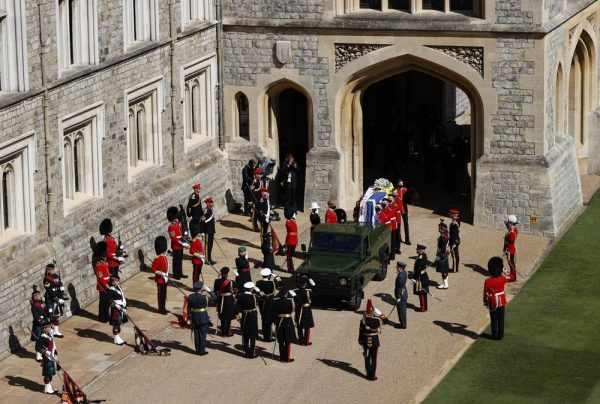 prince philips funeral procession gets ready in windsor - Prince Philip's funeral procession gets ready in Windsor