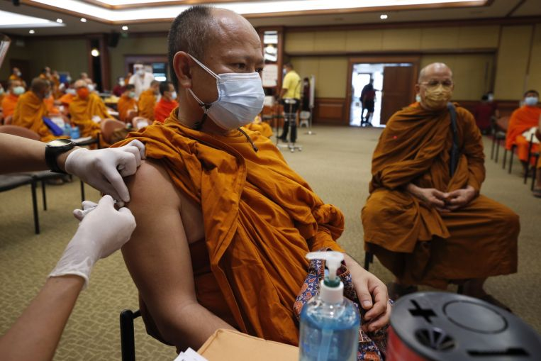 thailand starts covid 19 vaccinations for monks at risk - Thailand starts Covid-19 vaccinations for monks at risk