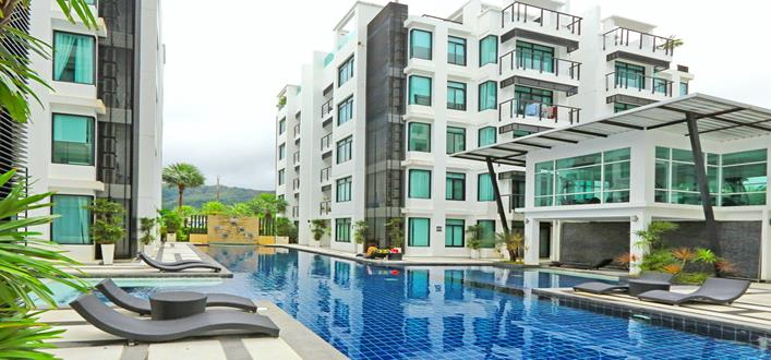 Private chic Condo for sale in Kamala. Offering Apartments for sale and re-sale in a secure community on Phuket for expats, retirees and families. - 1