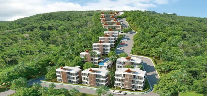 Hillside Condo in Kamala for sale. Offering Apartments for sale and re-sale in a secure community on Phuket for expats, retirees and families. - 1