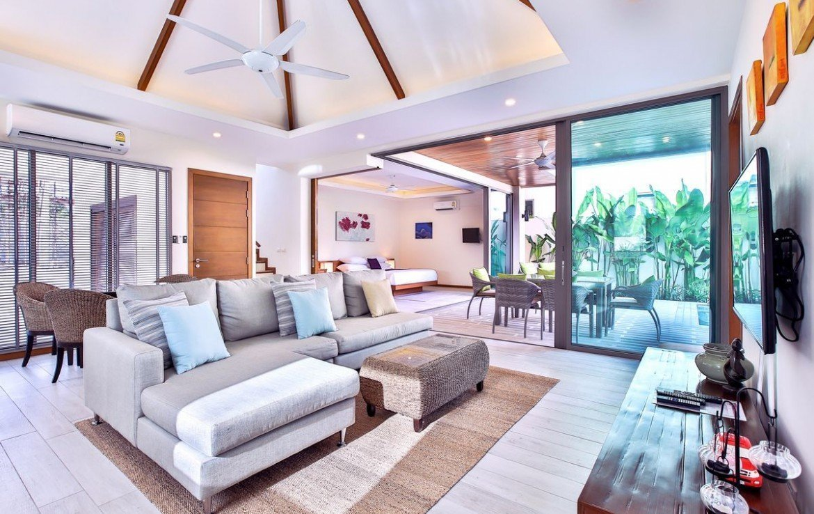 This 4 bedroom / 4 bathroom Villa for sale is located in Natai on Phuket, Thailand