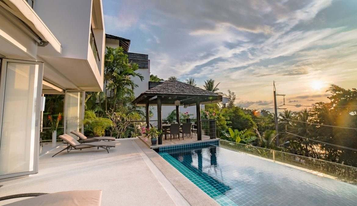 This 4 bedroom / 4 bathroom Villa for sale is located in Surin Beach on Phuket in Thailand